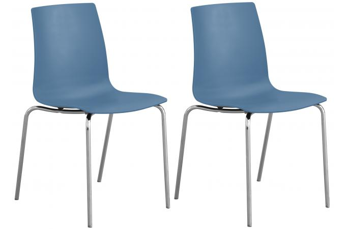Lot De 2 Chaises Design Bleues  ARC