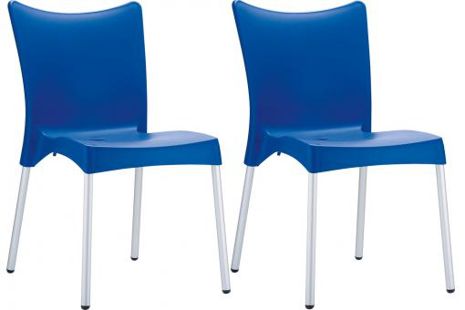Lot de 2 Chaises design Bleues JOHN SoFactory