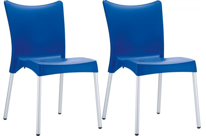 Lot De 2 Chaises Design Bleues JOHN