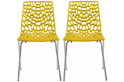 Lot De 2 Chaises Design Jaune TRAVIOLA SoFactory