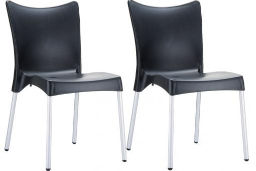 Lot de 2 Chaises design Noires JOHN SoFactory