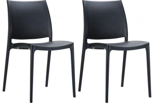 Lot de 2 Chaises design Noires MOOV SoFactory