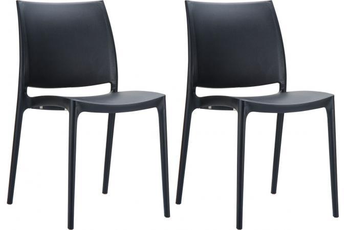 Lot de 2 chaises design noires moov design en direct de l - Lot de chaises noires ...