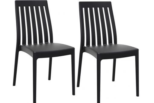 Lot de 2 Chaises design  Noires SANDY