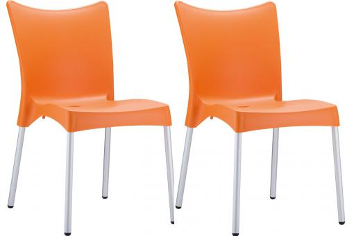 Lot de 2 Chaises design  Orange JOHN