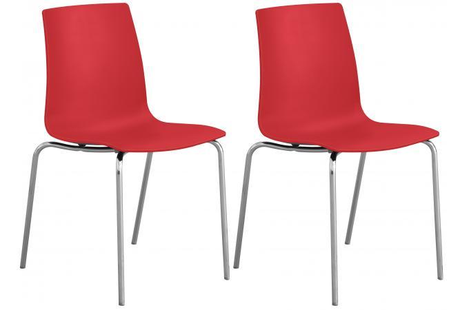 Lot De 2 Chaises Design Rouge ARC