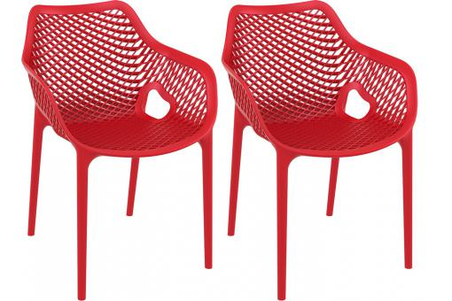 Lot de 2 Chaises design Rouge ALSTA SoFactory
