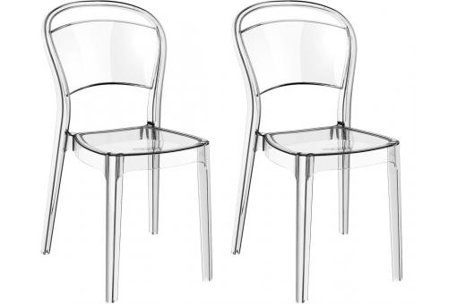 Lot de 2 Chaises design Transparentes BART SoFactory