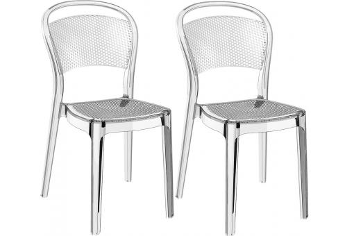 Lot de 2 Chaises design Transparentes SOUBI SoFactory