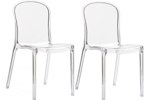 Lot de 2 Chaises design Transparentes VOLY SoFactory