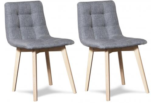 Lot de 2 chaises ELENA Grise