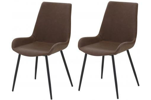 Lot de 2 Chaises Marron COLAS SoFactory
