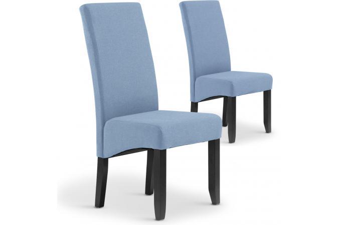 Bleu Tissu SANDRINE Lot 2 de Chaises EWH92eDIY