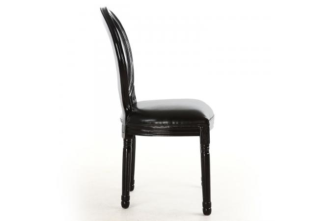 lot de 2 chaises m daillon transparent noir sandron design sur sofactory. Black Bedroom Furniture Sets. Home Design Ideas
