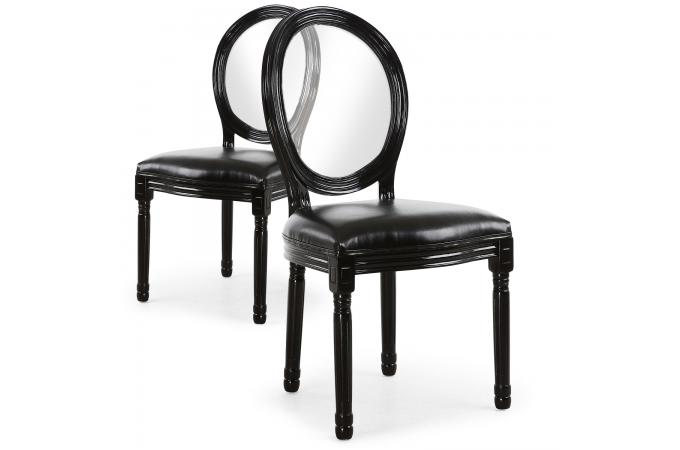 lot de 2 chaises m daillon transparent noir sandron design sur sofactory. Black Bedroom Furniture Sets. Home Design Ideas