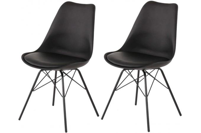 lot de 2 chaises noires ruth design sur sofactory. Black Bedroom Furniture Sets. Home Design Ideas