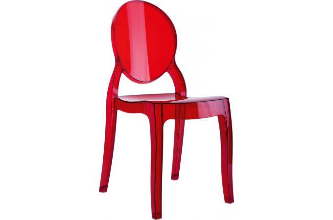 lot de 2 chaises plexi rouge transparent baby elizabeth design sur sofactory. Black Bedroom Furniture Sets. Home Design Ideas