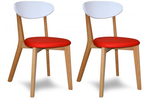 Lot de 2 chaises rouge CHLOE