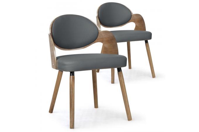 Cruzeno Sur Design Lot 2 Bois Chaises Sofactory Gris De Scandinaves MpGUzVqS