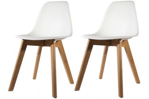 lot de 2 chaises scandinave coque blanche norway design sur sofactory. Black Bedroom Furniture Sets. Home Design Ideas