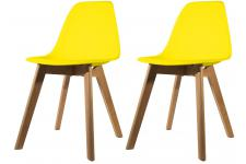 Lot de 2 chaises Scandinave Coque Jaune NORWAY