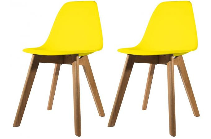 lot de 2 chaises scandinave coque jaune norway design sur sofactory. Black Bedroom Furniture Sets. Home Design Ideas