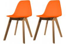 Lot de 2 chaises Scandinave Coque Orange NORWAY