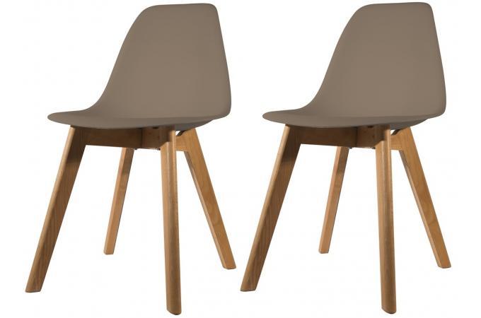 lot de 2 chaises scandinave coque taupe norway design sur sofactory. Black Bedroom Furniture Sets. Home Design Ideas