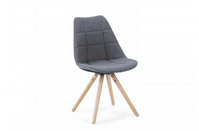 chaise scandinave en tissu gris limule design sur sofactory. Black Bedroom Furniture Sets. Home Design Ideas