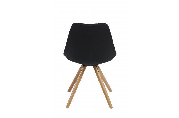 chaise scandinave en tissu noir limule design sur sofactory. Black Bedroom Furniture Sets. Home Design Ideas