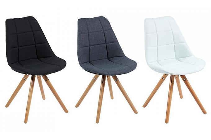Chaise scandinave en tissu noir limule design sur sofactory for Chaise nordique