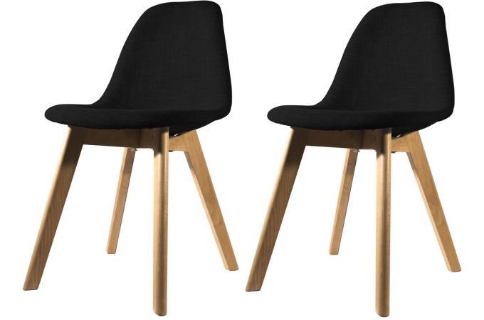 lot de 6 chaises noires maison design. Black Bedroom Furniture Sets. Home Design Ideas