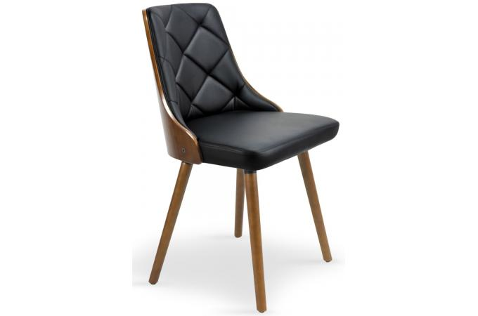 lot de 2 chaises scandinave noisette et noir perig design sur sofactory. Black Bedroom Furniture Sets. Home Design Ideas