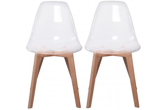 lot de 2 chaises scandinave transparente norway - Chaise Scandinave Transparente