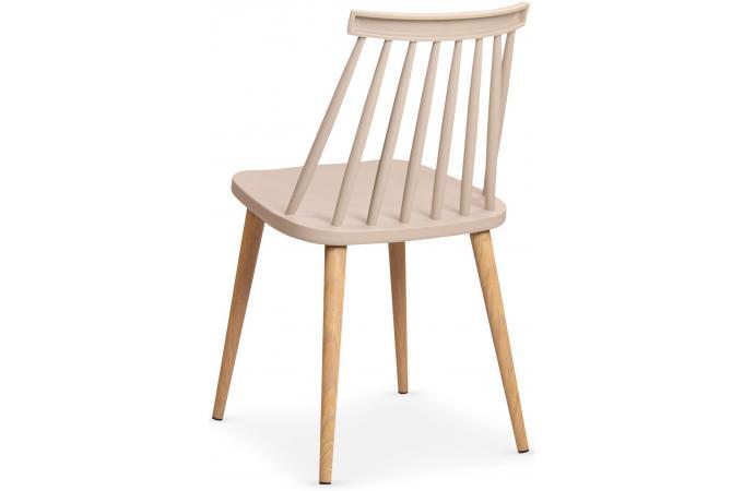 Lot de 2 chaises scandinaves beiges polta design pas cher - Lot de chaises design pas cher ...