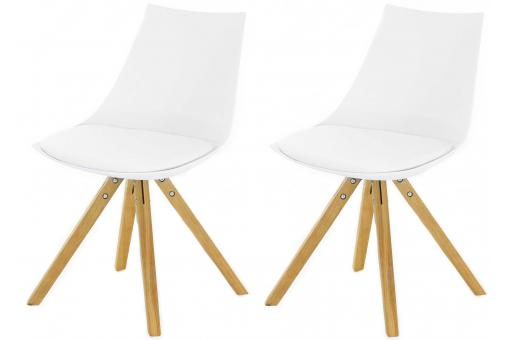 Lot de 2 Chaises Scandinaves Blanches MILAN SoFactory