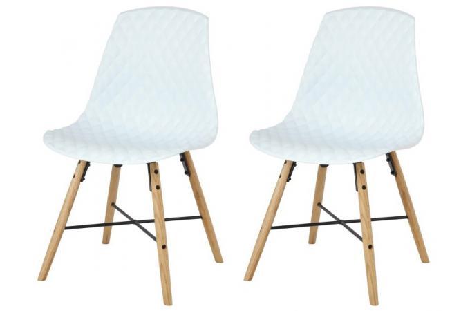 lot de 2 chaises scandinaves blanches en ch ne lisa design sur sofactory. Black Bedroom Furniture Sets. Home Design Ideas