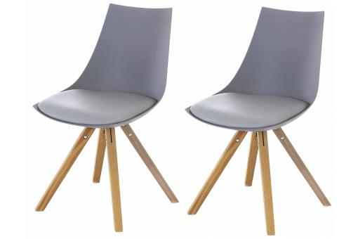 Lot de 2 Chaises Scandinaves Grises MILAN SoFactory