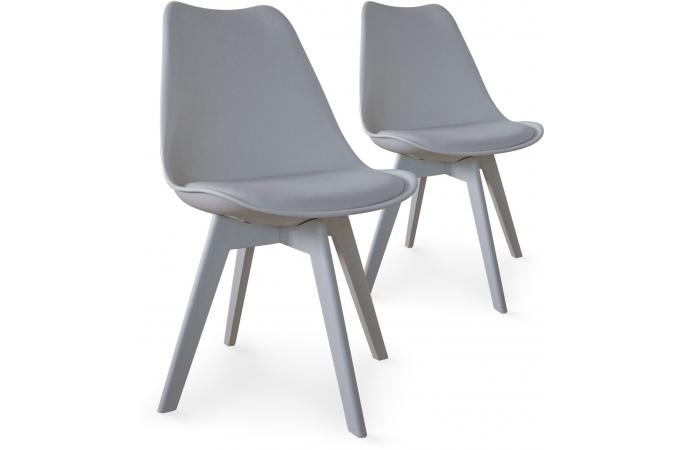 Lot de 2 chaises scandinaves grises LARNA SoFactory