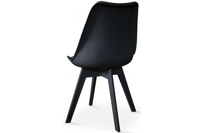 Lot de 2 chaises scandinaves noires larna design sur sofactory for Chaises scandinaves noires