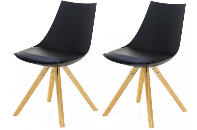 2 de Lot MILAN Noires Chaises Scandinaves shQxtCrd