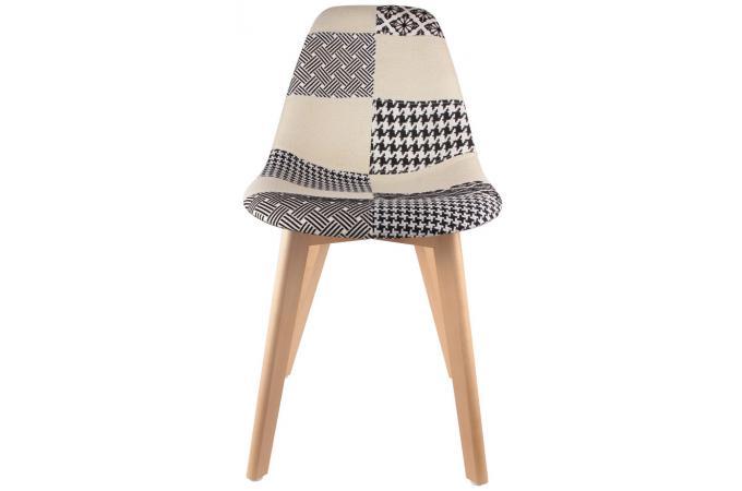 lot de 2 chaises scandinaves patchwork bicolores norway design sur sofactory. Black Bedroom Furniture Sets. Home Design Ideas