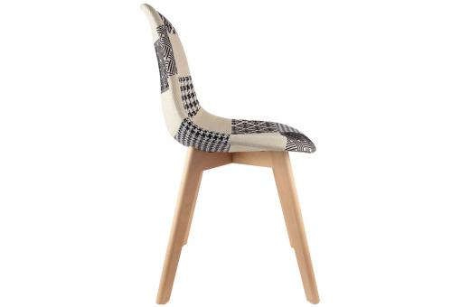 Lot de 2 chaises scandinaves patchwork bicolores NORWAY Noir CM182056-0000