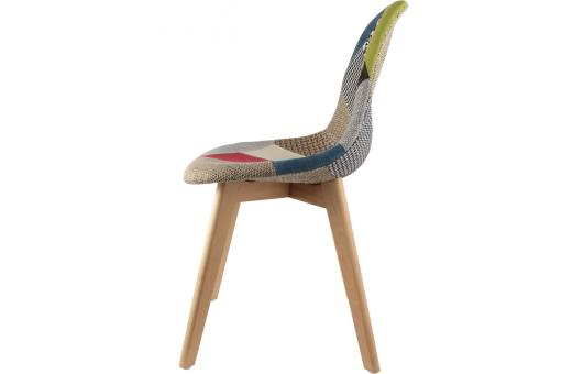 Lot de 2 chaises scandinaves patchwork colorés NORWAY CM182058-0000