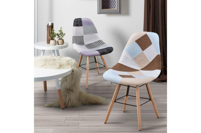 Lot Sur Patchwork Scandinaves Design Sofactory 2 Gris De Genie Chaises rCeBWdox