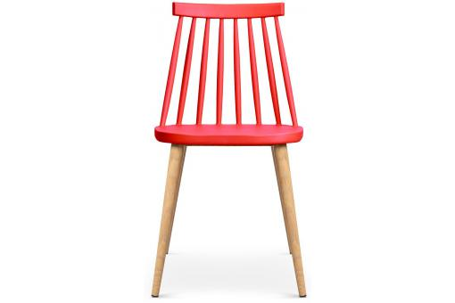 Lot de 2 chaises scandinaves rouges POLTA ME182000-0000