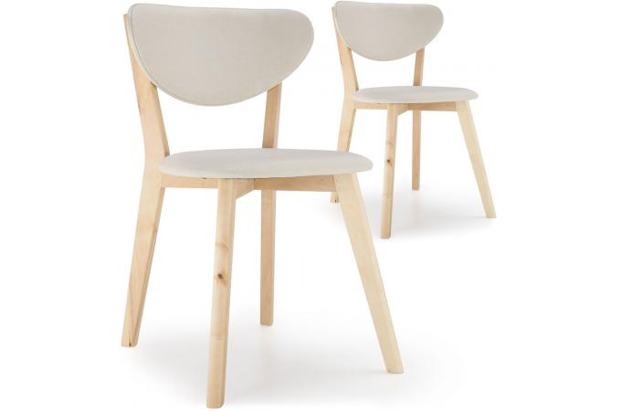 Lot De 2 Chaises  Scandinave Crôme KENNY