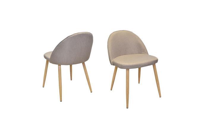 chaise tissu beige good chaise tissu beige chaise chene luxe aura chaise en tissu beige et. Black Bedroom Furniture Sets. Home Design Ideas