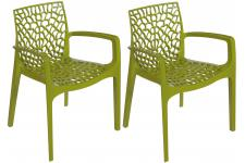 Sofactory - FILET - Chaise verte