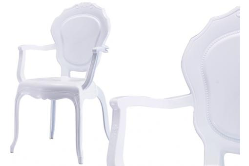 Lot de 2 Chaises Polycarbonate Blanc MOON